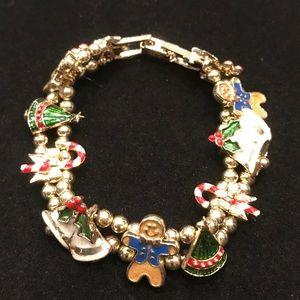 Slide Charm Christmas Bracelet